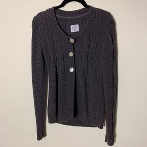H&M Brown Knit Long Sleeve Sweater Size Small